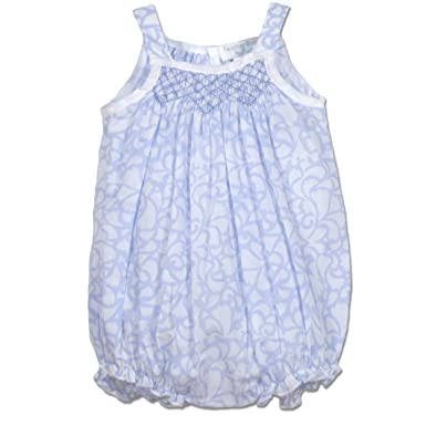 d6f112cdd47 Amazon.com  Feather Baby Girls Clothes Pima Cotton Hand-Smock Bubble  Sunsuit Bodysuit  Clothing