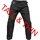 Piranha Gear Clearance Black Judo Grappling Pants TALL - Drawstring Waist