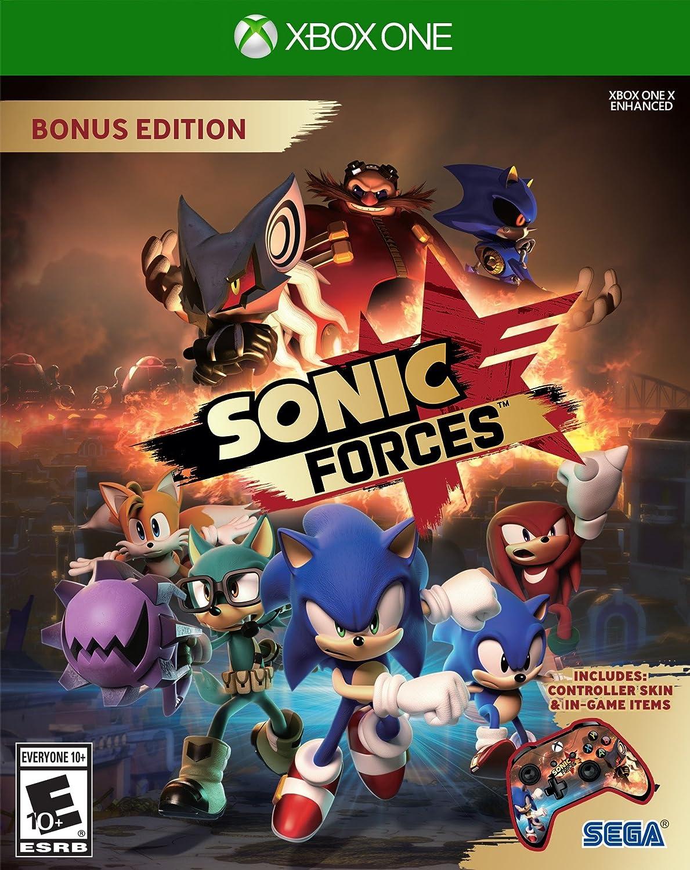 Amazon Com Sonic Forces Bonus Edition Xbox One Sonic Forces Bonus Edition Video Games
