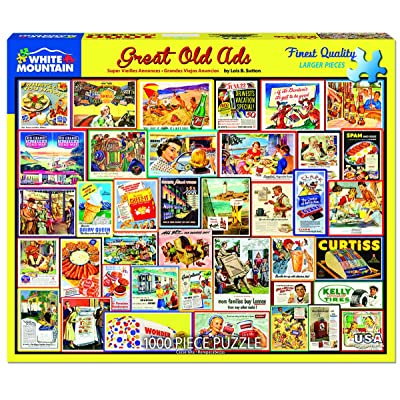 White Mountain Puzzles Great Old Ads - 1000 Piece Jigsaw Puzzle: Toys & Games