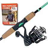 Tailored Tackle Universal Multispecies Rod and Reel Combo Fishing Pole | Freshwater & Inshore Saltwater | Poles 6 Ft 6 in Rod