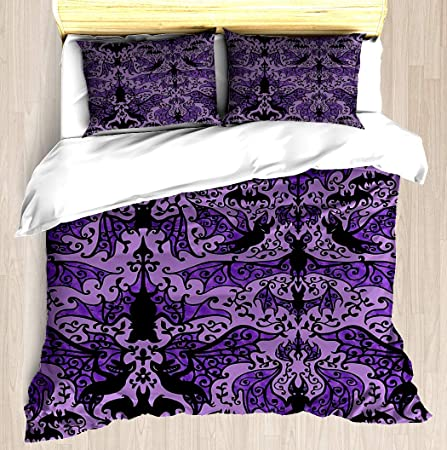 NEW 2019 Designs Duvet Cover with Pillow Case Bedding Set ALL SIZES VIOLET COTAG