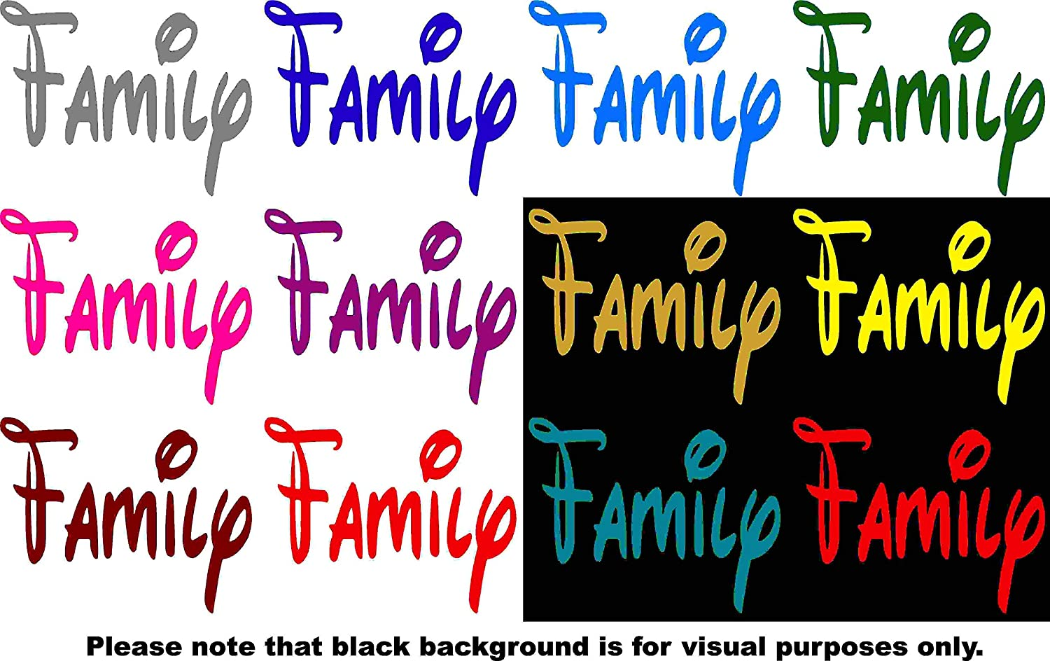 Choose Color V and T Gifts Family Decal