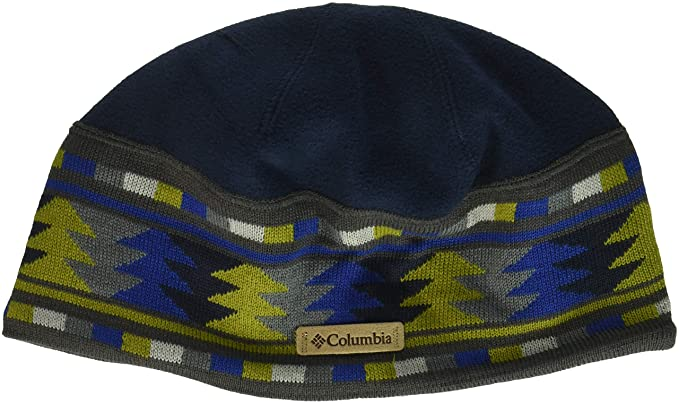 0b26a054814dd6 Columbia Men's Alpine Pass Beanie Hat, Collegiate Navy Multigeo, One Size