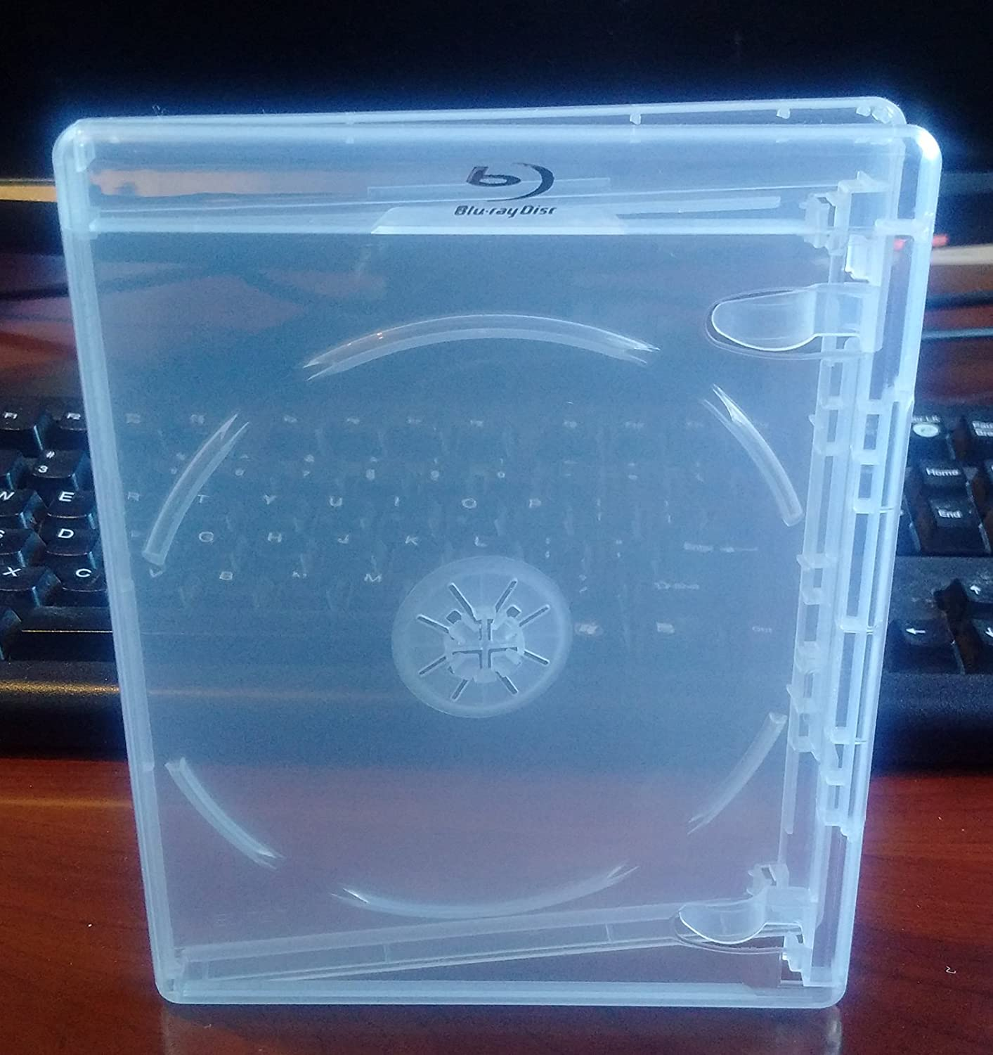 New 12.5 mm Clear Viva Elite Blu-ray Single Disc Case Standard Size Hold 1 Disc 25 Pcs a Pack