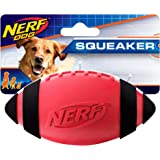 Nerf Dog Squeaker Football, 5-Inch, Red