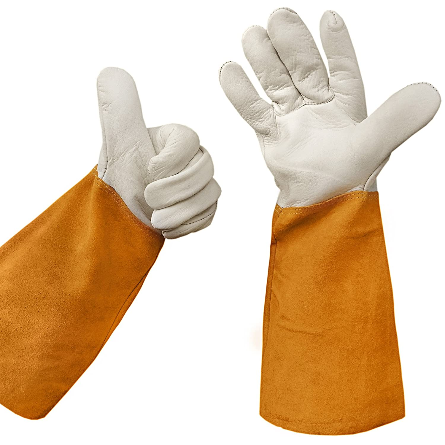 Leather gardening gloves for Gardening gloves amazon