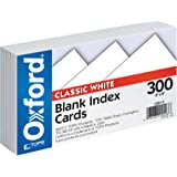 """Oxford Blank Index Cards, 3"""" x 5"""", White, 300 pack (10013)"""