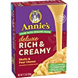 Annie's Deluxe Rich & Creamy Shells & Four Cheese Macaroni & Cheese Sauce, 11.3 oz
