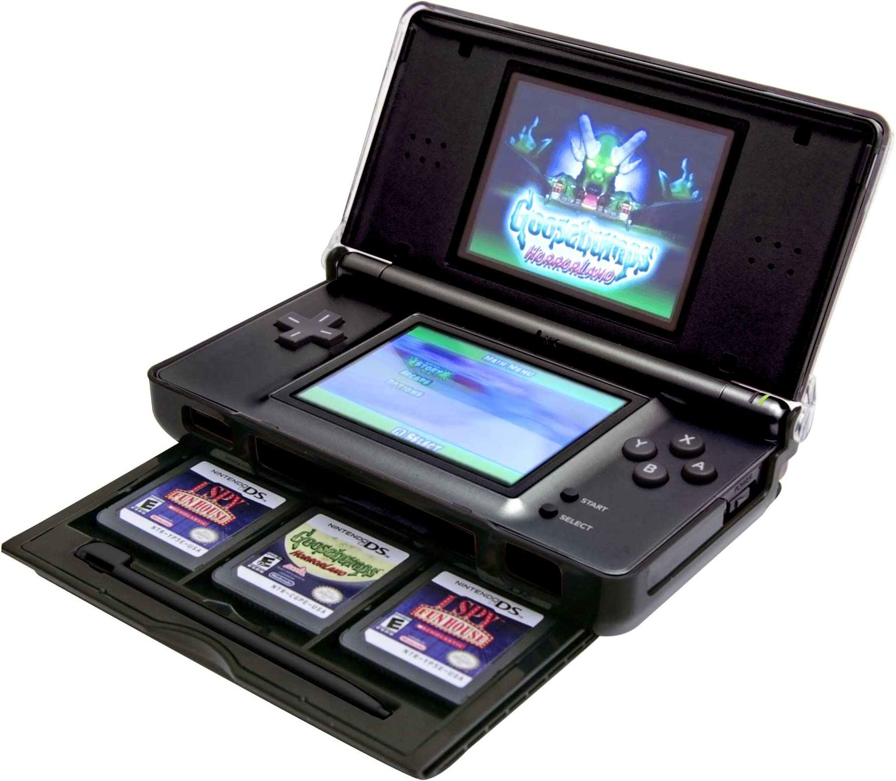 amazon com nintendo ds lite protective case with storage drawer