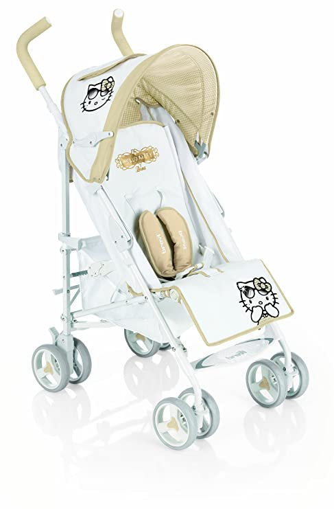 Brevi 758hk B. Super Hello Kitty 456 Diva carrito MULTI-POSICIONES, blanco y