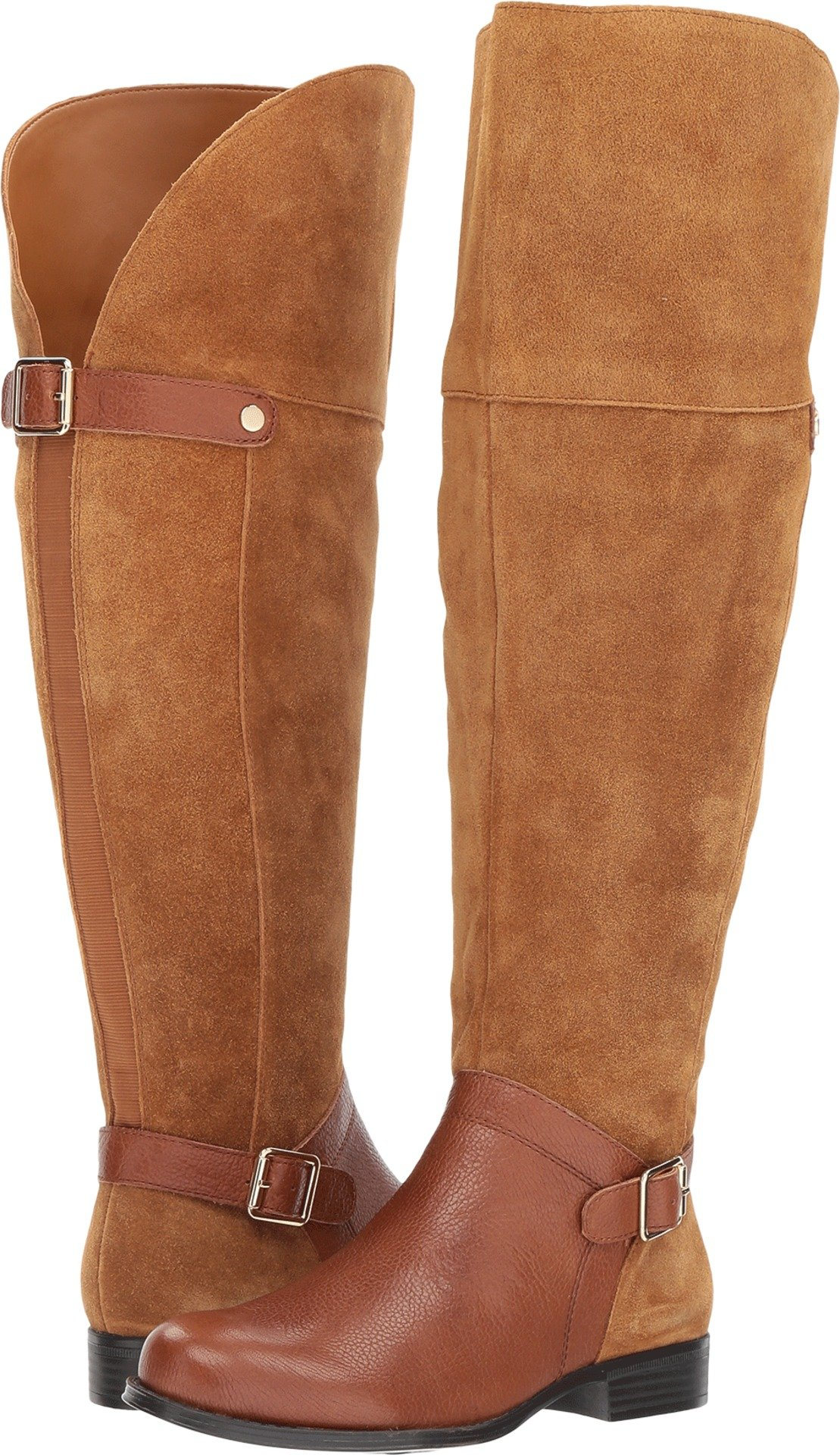 Naturalizer Women's January WC Riding Boot, Camel, 7 2W US