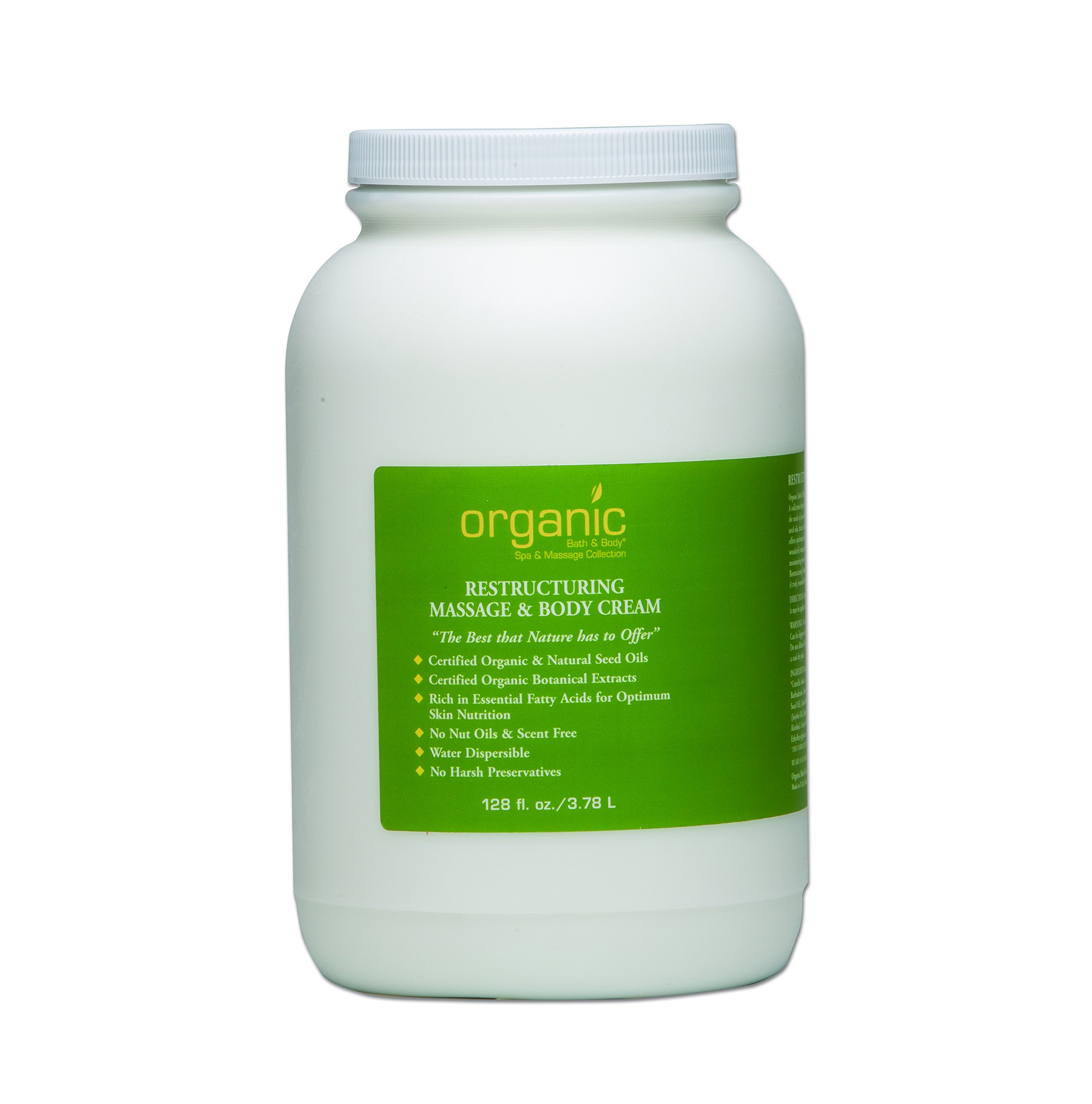 Restructuring Massage and Body Cream - 128 oz by Organic Bath & Body