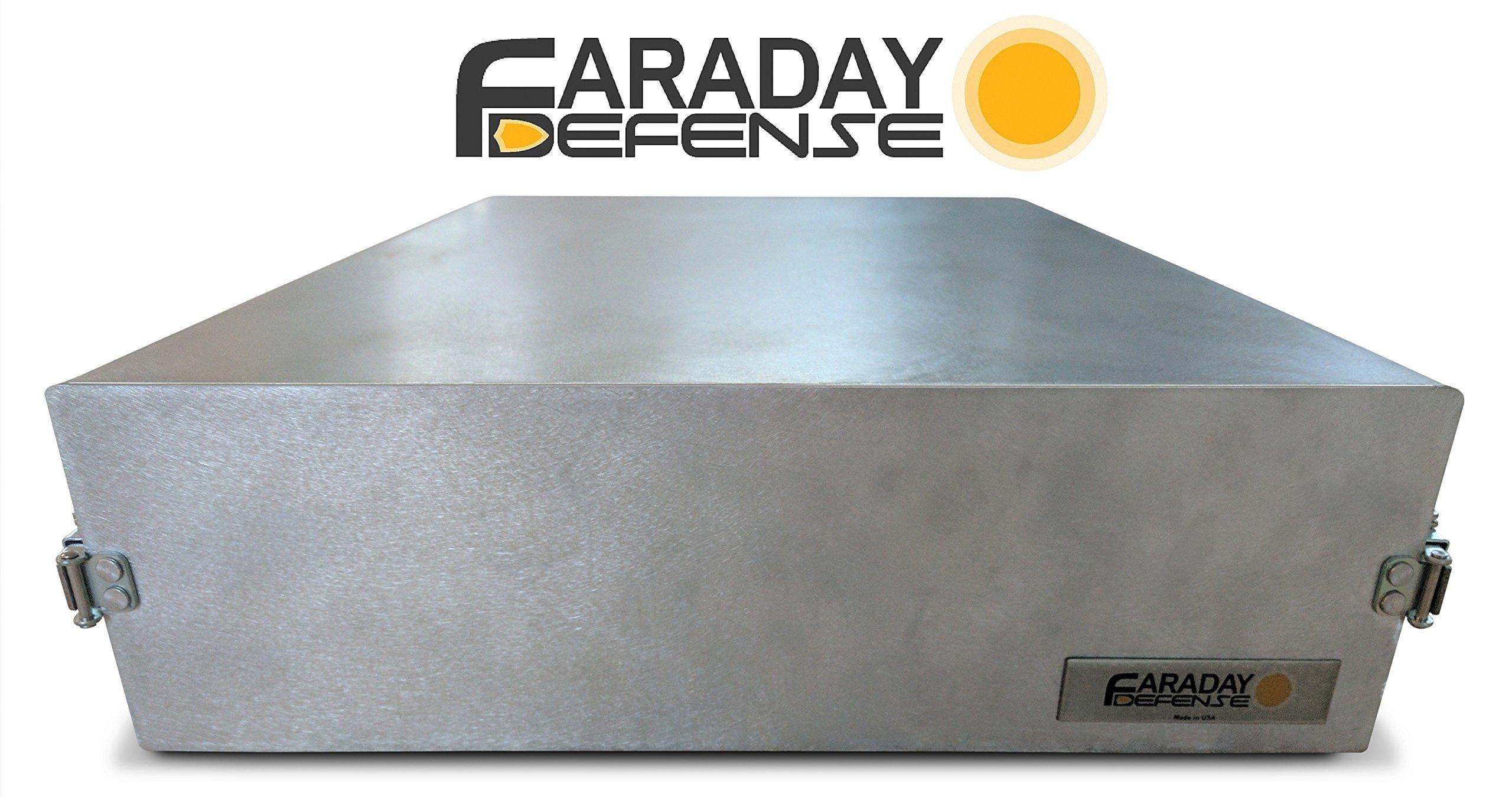 Faraday Defense - Solid Metal Faraday Cage, Bug Out Box, EMP Protection, Solar Flare, RF RFID Blocking by Faraday Defense