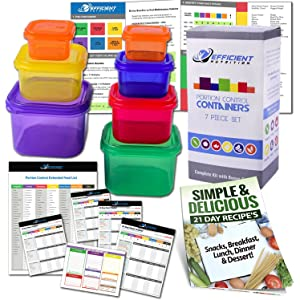 efficient nutrition portion control containers kit 7 piece complete guide 21