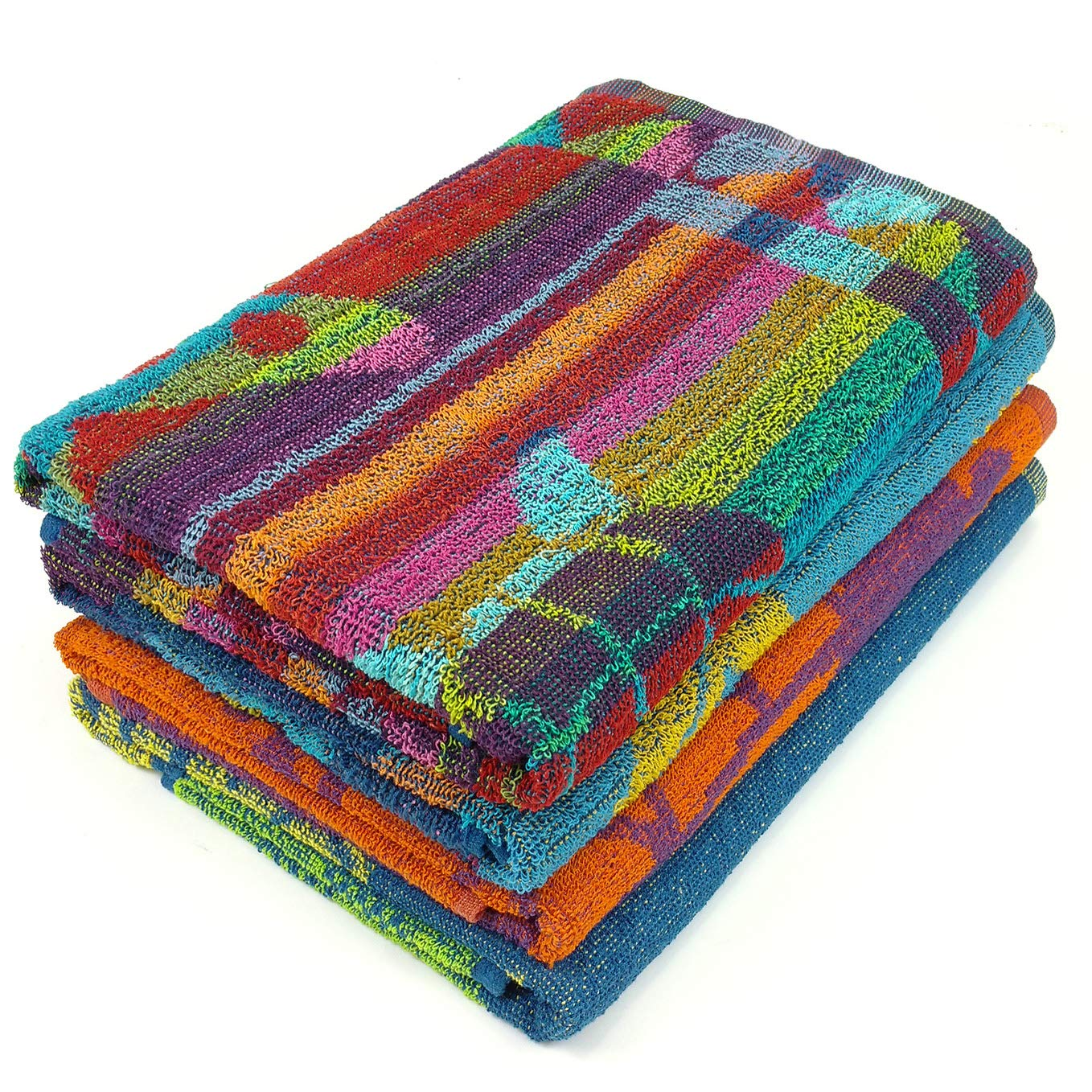 KAUFMAN - Terry Beach & Pool Towel 4-Pack of Assorted Colors - 30in x 60in