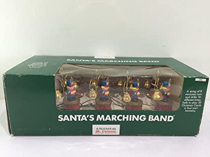 vintage mr christmas santas marching band in green box