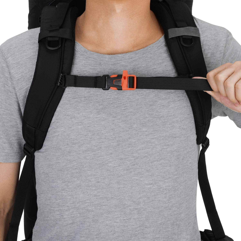 Gonex Sac /à Dos de Trekking 70L 10 L Sac de randonn/ée pour Escalade Alpinisme Camping Trekking Voyage