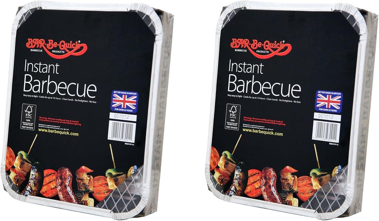 6 X Barbecue instantan/é Bar-Be-Quick:Le barbecue instantan/é Bar-Be-Quick est la meilleure marque de barbecue jetable dans le monde il s/'allume avec une seule allumette et cuit jusqu/'/à 1 hr30 min Apportez-le et cuis