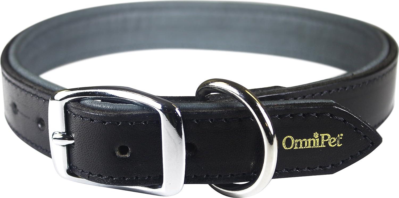 Black 1\ Black 1\ OmniPet Deer Tan Leather Dog Collar, 1  x 25 , Black