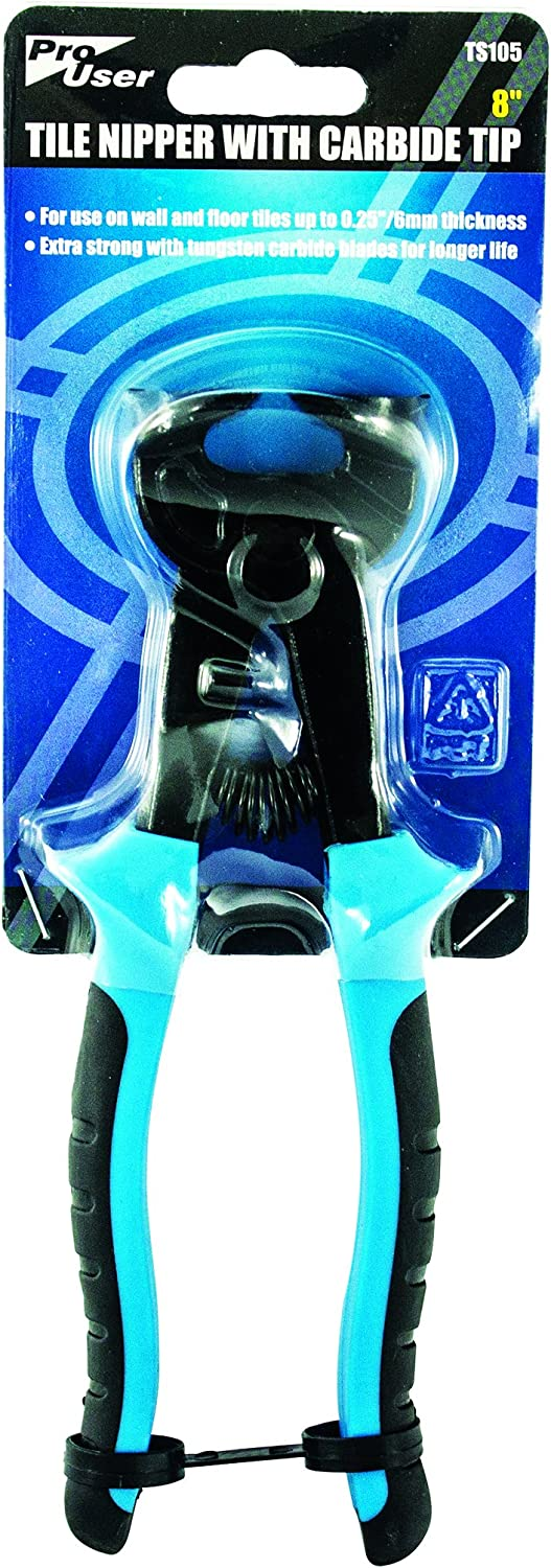 pro user BB-TS105 8 Tile Nipper with Carbide Tip Blue
