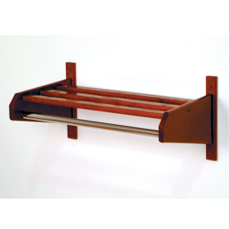 Wooden Mallet 38-Inch Coat and Hat Rack, Mahogany