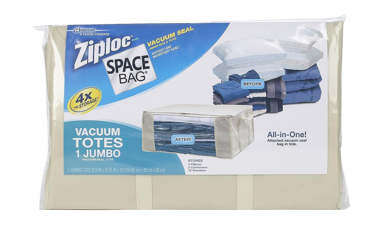 Amazon Space Bag Stackable Vacuum Seal Saver Tote Jumbo Health Personal Care