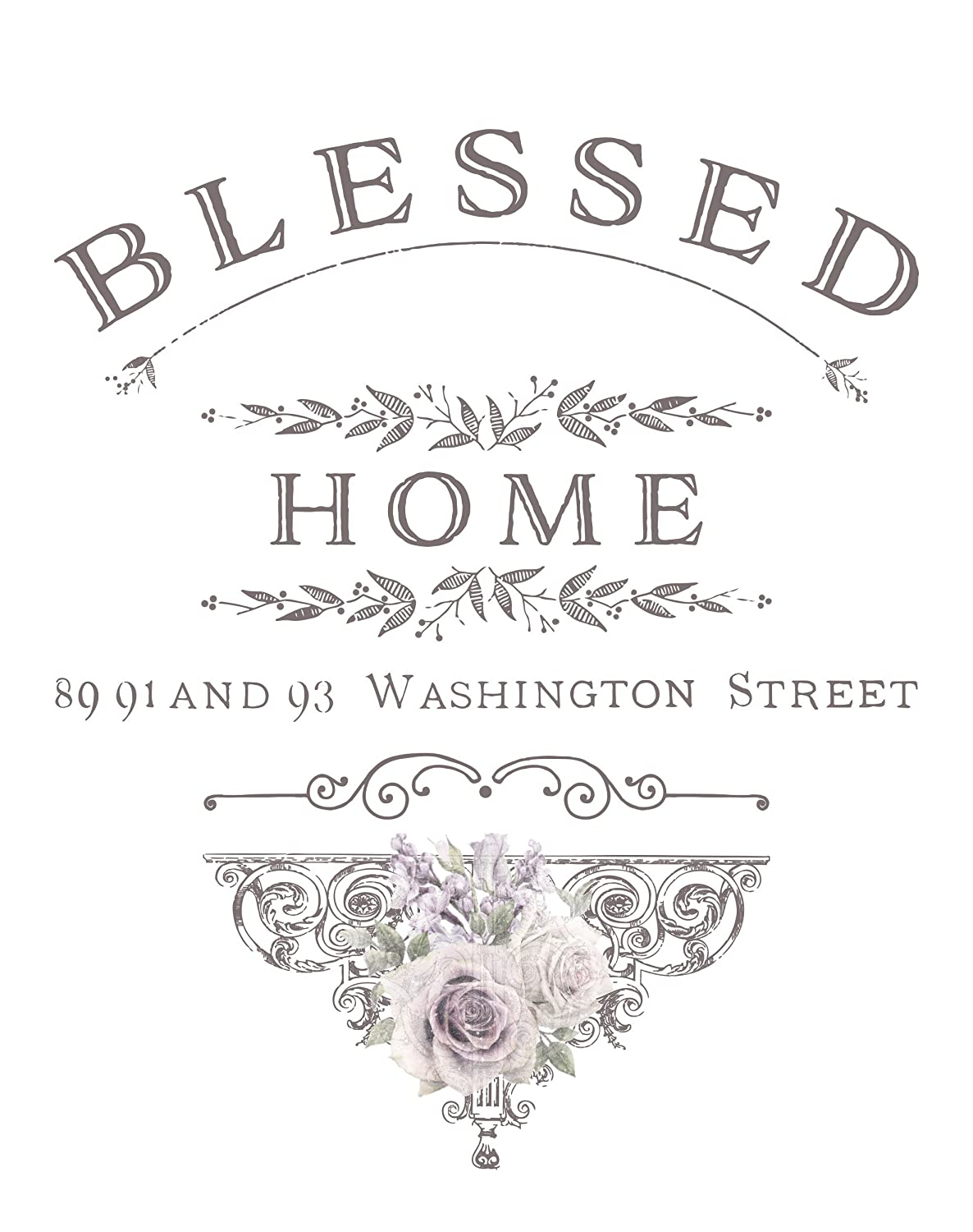 Prima Marketing 655350632861 Blessed Home Redesign Transfer Multicolor