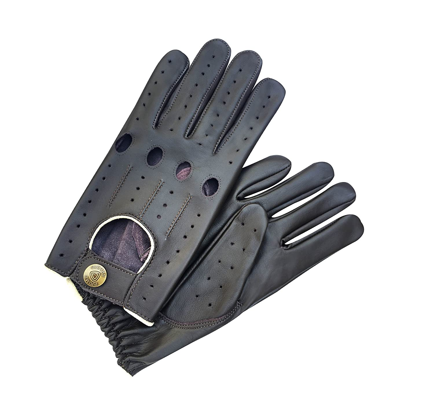 Men's Top Quality Real Soft Nappa Leather Unlined Driving Fashion Gloves Prime Leather