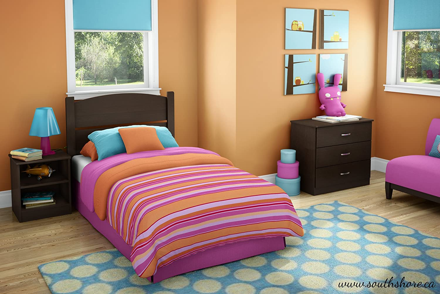 Amazon.com: South Shore Libra Bedroom Set In A Box, Twin, Chocolate:  Kitchen U0026 Dining