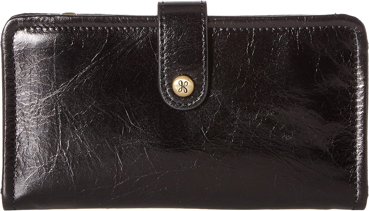 Hobo Women s Torch Vintage Leather Folio Wallet (Black) at Amazon Women s  Clothing store  499d3006e423a
