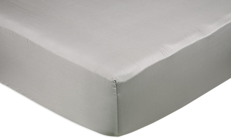 AmazonBasics - Sábana bajera ajustable (algodón satén 400 hilos ...