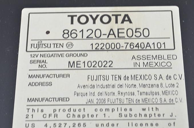Fancy Toyota Fujitsu Ten 86120 Pattern - Schematic Circuit Diagram ...