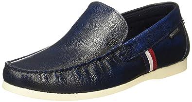 e0fd2e464e1a47 Red Tape Men's Blue Leather Loafers - 9 UK/India (43 EU): Buy Online ...