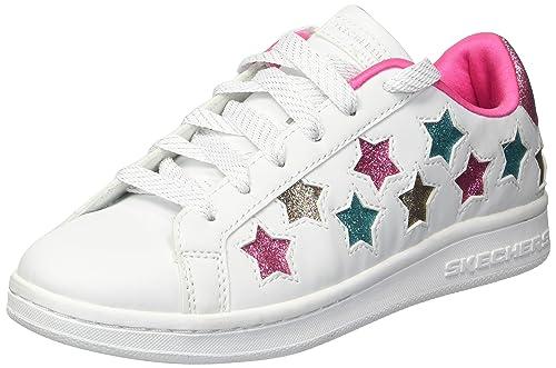 Skechers Omne-Lil' Star Side, Zapatillas para Niñas, Blanco (White/Multicolour), 36 EU