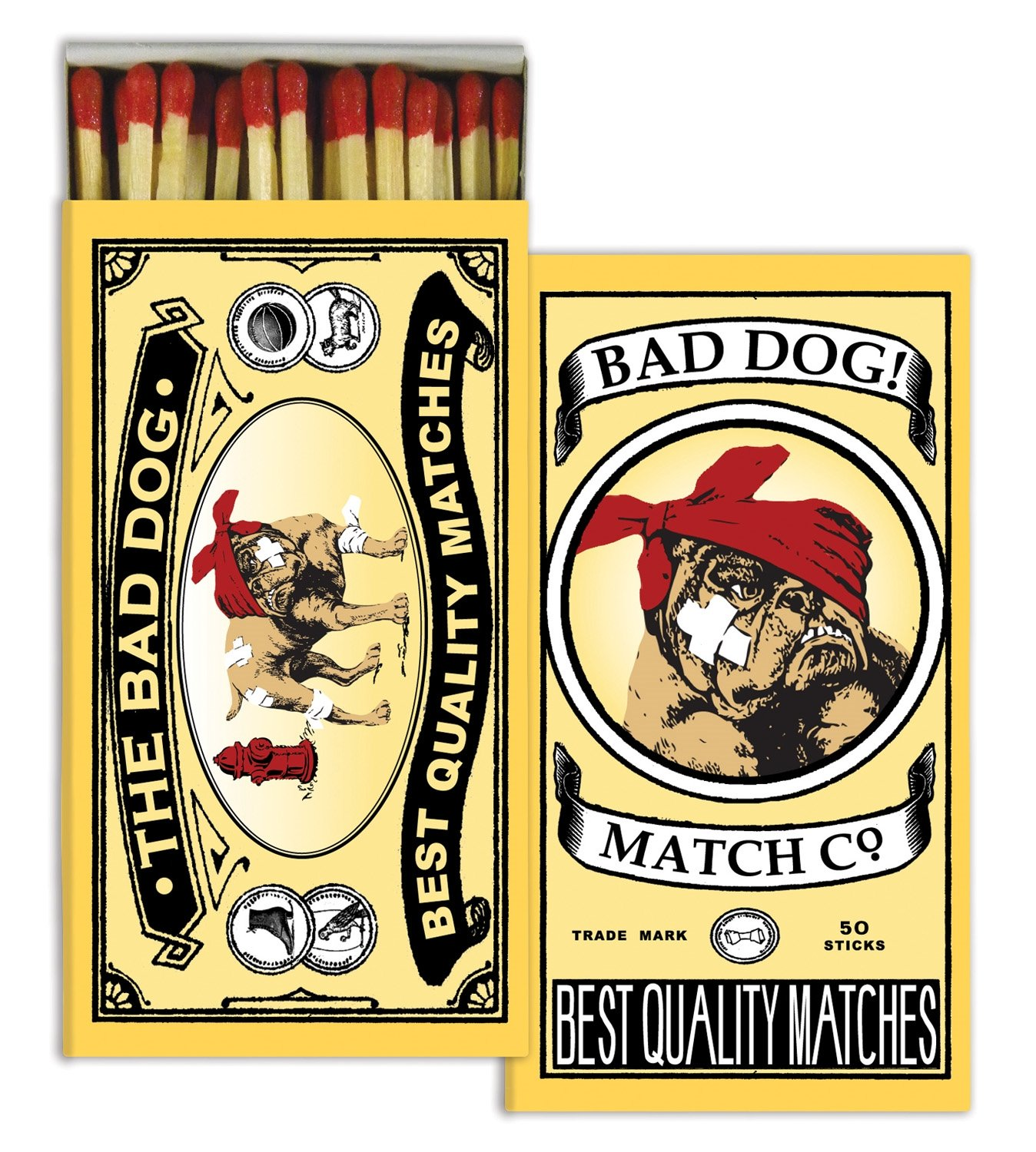 Matches - Bad Dog (Set of 12)