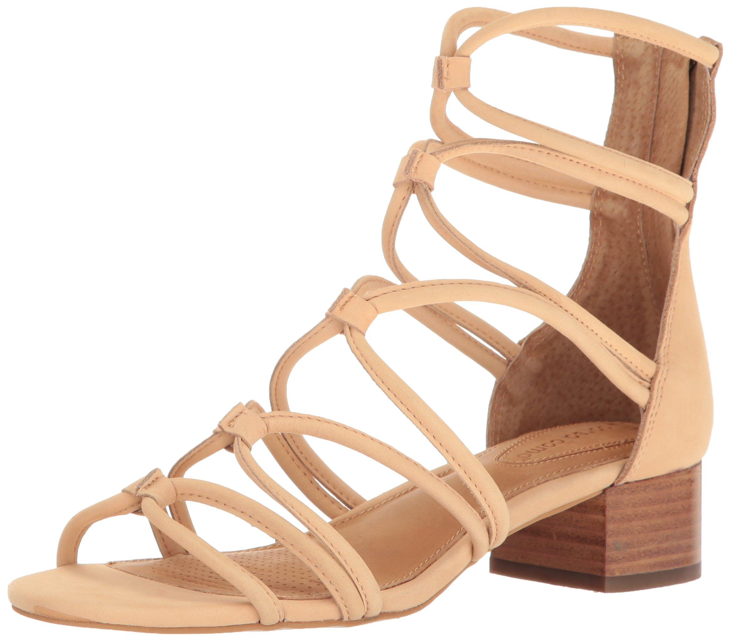 Corso Como Women's Jenkins Heeled Sandal, Nude Nubuck, 7 US/7 M US