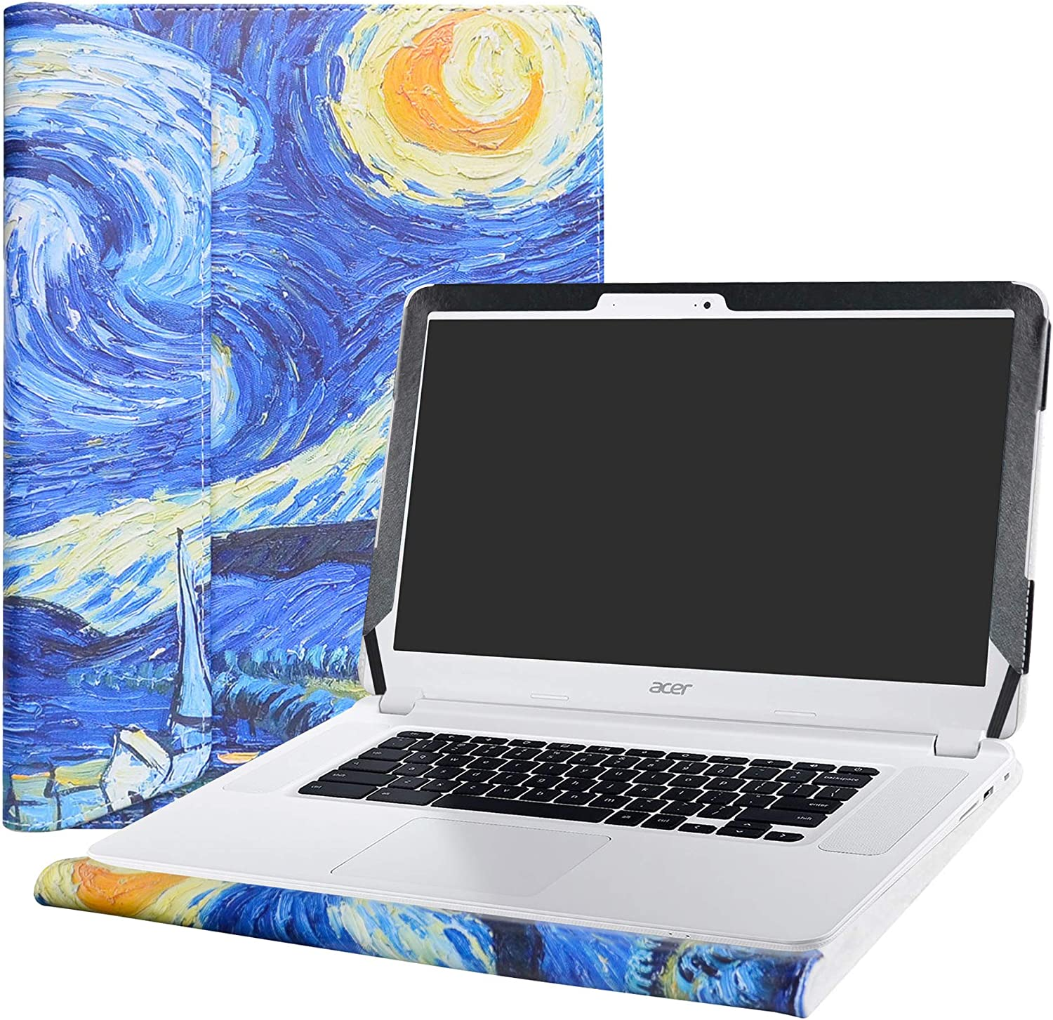 "Alapmk Protective Case Cover For 15.6"" Acer Chromebook 15 C910/CB5-571/CB3-531 Series Laptop [Warning:Not fit Acer Chromebook 15 CB3-532 CP315 CB315-1H Series],Starry Night"