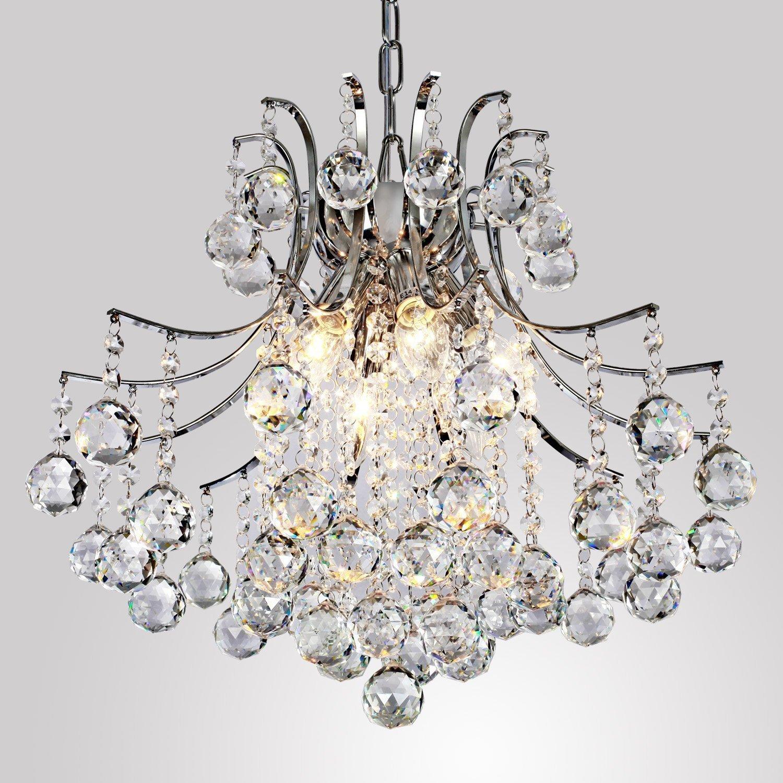 ALFRED Modern Crystal Chandelier with 6 Lights, Modern Ceiling Light ,  Bedroom, Living Room: Amazon.co.uk: Lighting