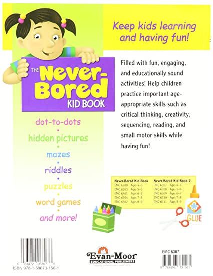 Amazon.com: Never-Bored Kid Book 2, Grades PreK-K Activity Book ...