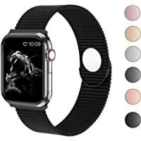 Cocos Compatible with Apple Watch Band 38mm 40mm 42mm 44mm, Stainless Steel Mesh Loop for iWatch Bands Women Men Series 5 4 3 2 1