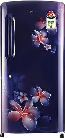 LG 215 L 4 Star Direct Cool Single Door Refrigerator(GL-B221ABPX.DBPZEBN, Blue Plumeria,Smart Inverter Compressor)