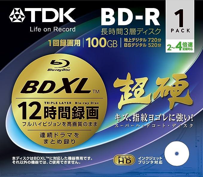 SONY BD-R Printable HD Blu-Ray 4x Speed Blank Disc Media BDR 128GB 5 Packs