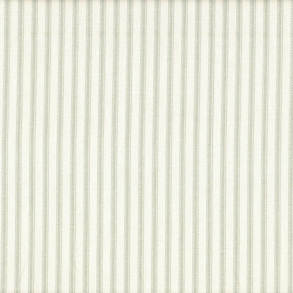 French Country Seafoam Green Ticking Stripe 75 x 72 inch Cotton Shower Curtain, Unlined