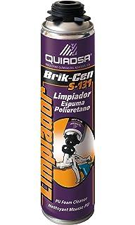 Quiadsa 53306001 Disolvente Limpiador para Espuma de Poliuretano, 500 ML