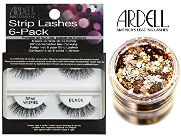 b53f25e3795 Ardell Professional STRIP LASHES 6-pack, DEMI WISPIES BLACK, Contains 6  pair of