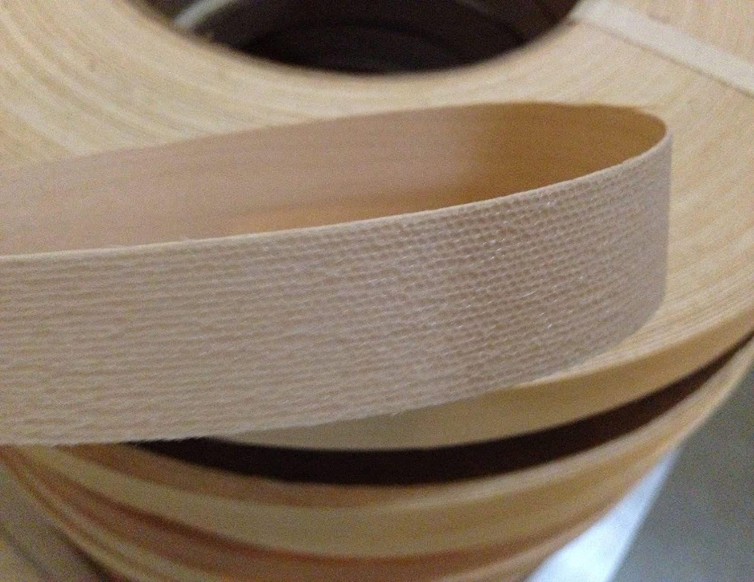 Made in USA Easy Application Iron On with Hot Melt Adhesive Flexible Wood Tape Yellow Pine 1 1//2 X 25 Preglued Wood Veneer Edgebanding Roll