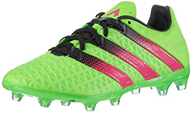 1ac571f91784 Adidas Men's Ace 16.2 FG/AG Green, Pink and Black Football Boots - 11