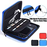 LinkStyle Nintendo 2DS Case with Game Storage, Nintendo 2DS Hard EVA Carrying Case Cover Bag Protective Travel Storage Cover Pouch with 8 Game Holders Double Zipper for Nintendo 2DS (Blue)