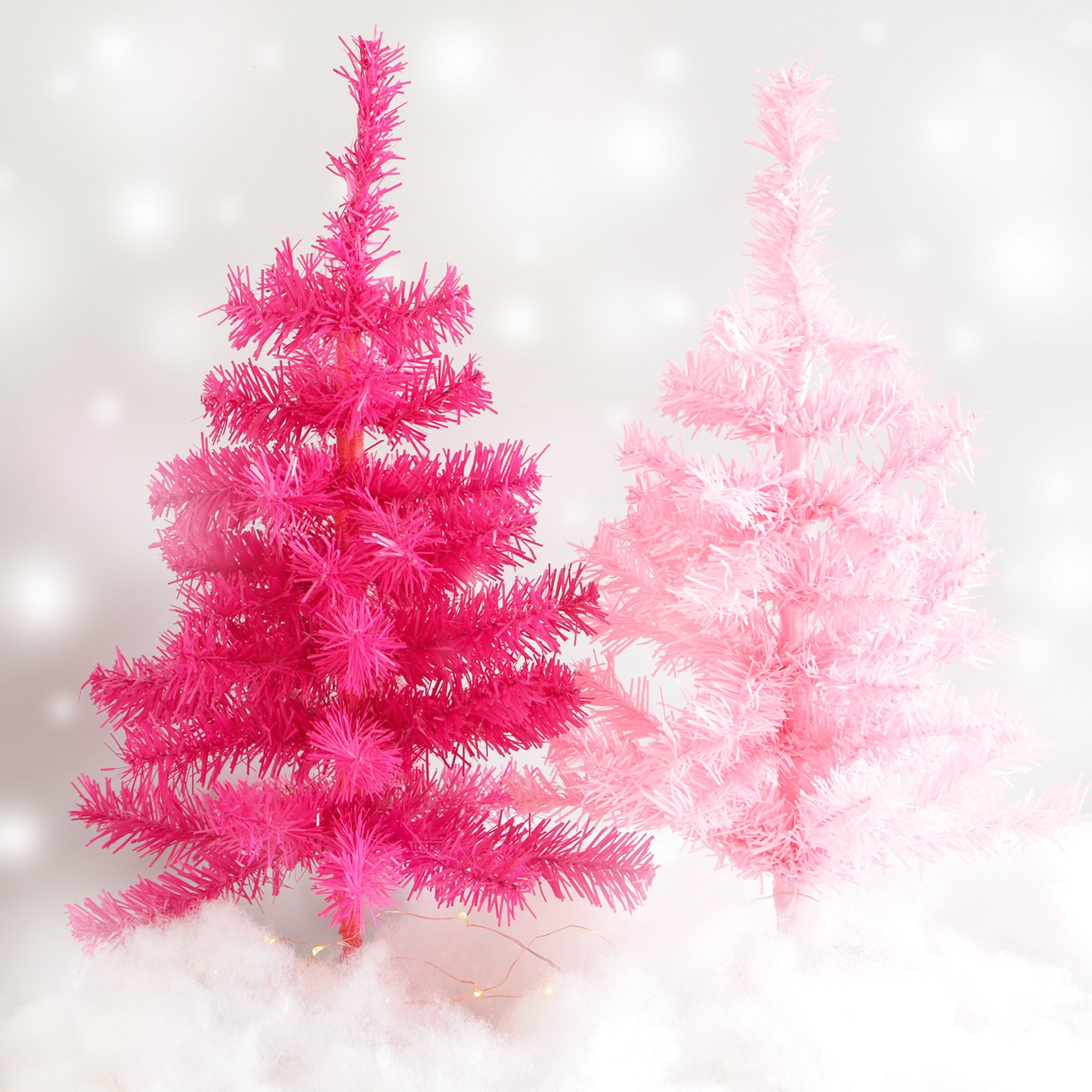 Plum and Punch Artificial Light Pink Holiday Miniature Christmas / Holiday Tree